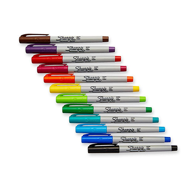 Precision-Ultra-Fine-Markers-Set-of-12-Sharpie-inside
