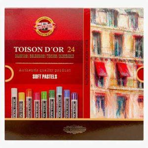 Toison-D OR-Soft-Pastels-Set-of-24-Koh-I-Noor