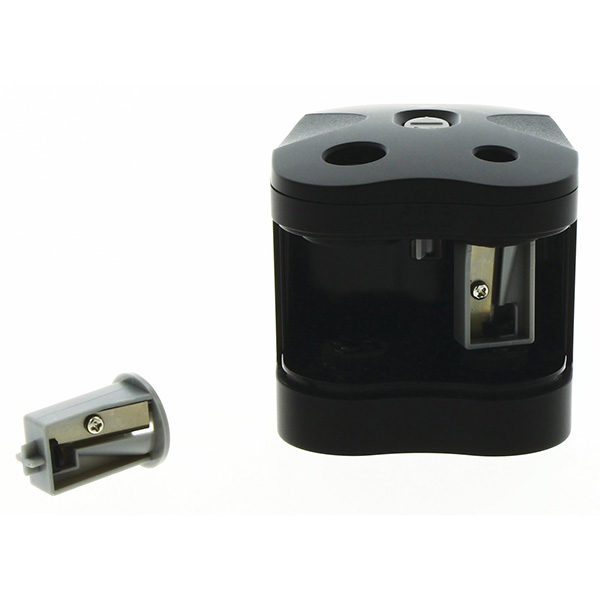 Twin-Hole-Pencil-Sharpener-Battery-Operated-Derwent-open