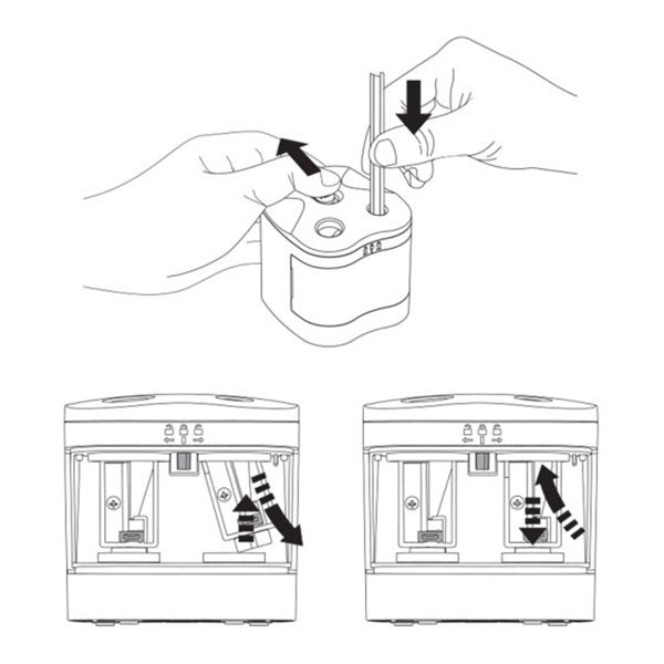 Twin-Hole-Pencil-Sharpener-Battery-Operated-Derwent Instructions
