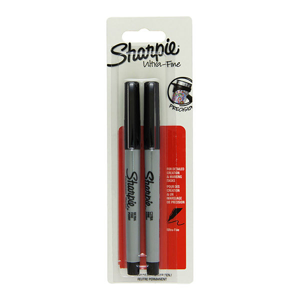 Ultra-fine-precision-set-of-2-Black-Sharpie Pack