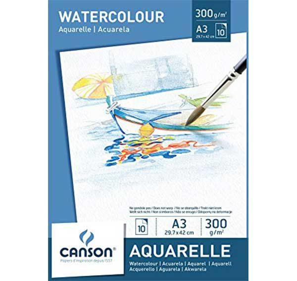Watercolour-Aquarelle-Paint-Pad-A3-Canson