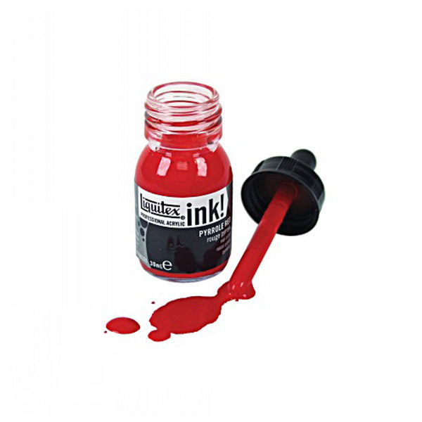 Essential-Ink-Set-of-6-Liquitex-Single-Red