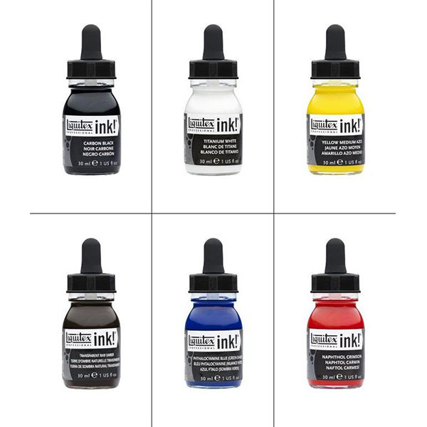 Essential-Ink-Set-of-6-Liquitex-Single-colours