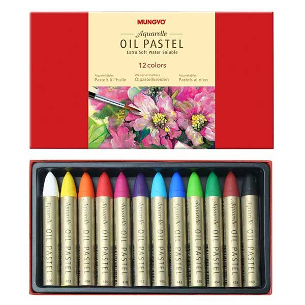 Aquarelle-Oil-Pastel-Extra-Soft-Set-of-12-Inside-Mungyo