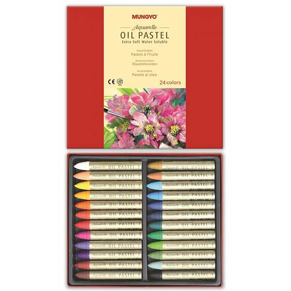 Aquarelle-Oil-Pastel-Extra-Soft-Set-of-24-Inside-Mungyo