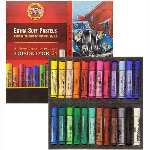 Extra-Soft-Pastels-Set-of-24-Koh-I-Noor-Set