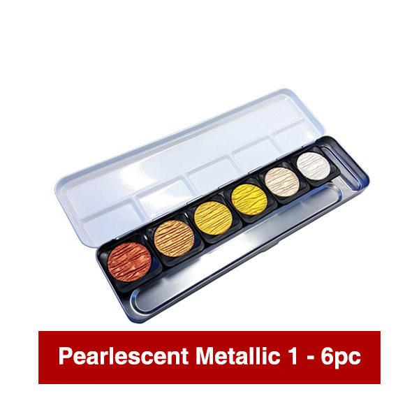 Finetec-Watercolour-Paint-Colour-Pearlescent-Metallic-1-Open-Set