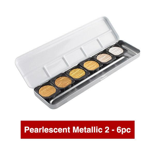Finetec-Watercolour-Paint-Colour-Pearlescent-Metallic-2-Open-Set