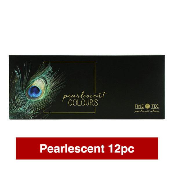 Finetec-Watercolour-Paint-Colour-Pearlescent-Metallic-Box-12-Set