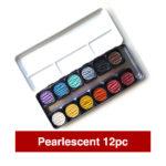Finetec-Watercolour-Paint-Colour-Pearlescent-Metallic-Open-12-Set