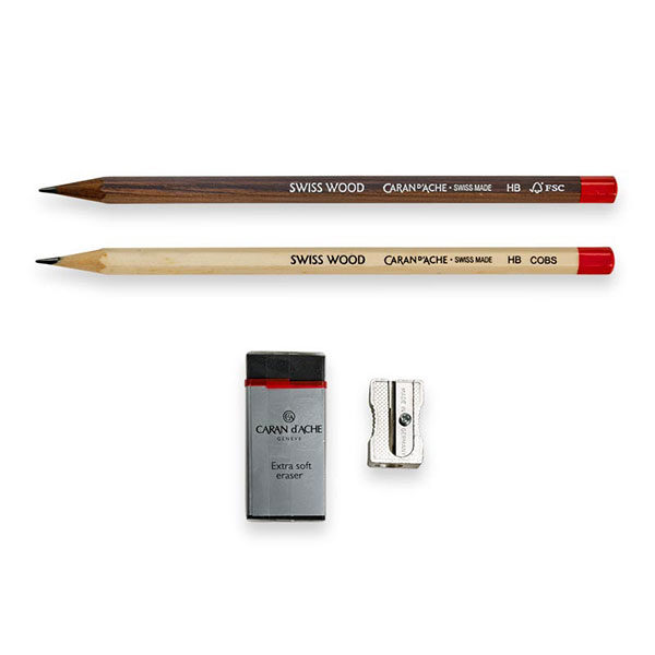 Graphite-Pencil-Genius-Set-of-2-Caran-D-ache-Pencil-Brown
