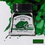 Ink-14ml-Brilliant-Green-Winsor-&-Newton