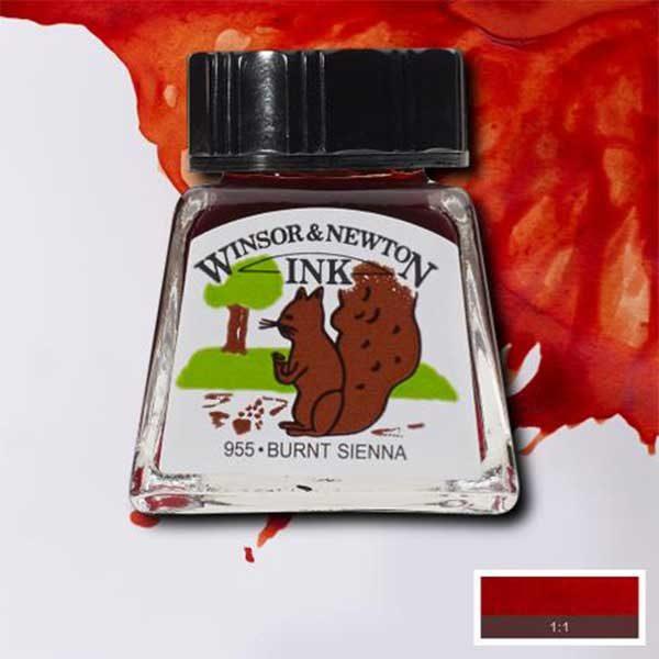 Ink-14ml-Burnt-Sienna-Winsor-&-Newton