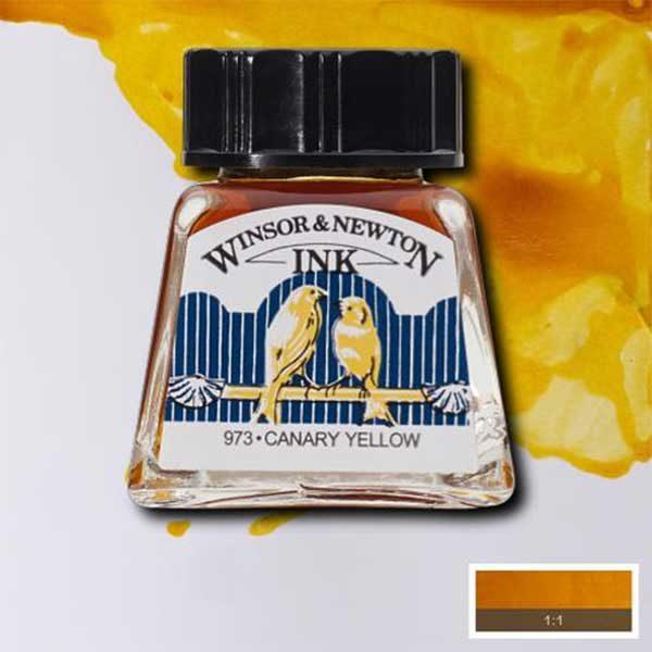 Ink-14ml-CanaryYellow-Winsor-&-Newton