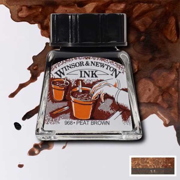 Ink-14ml-Peat-Brown-Winsor-&-Newton
