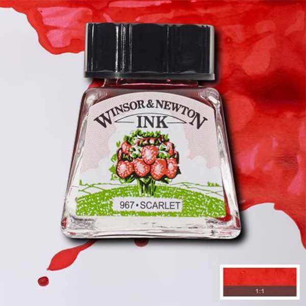 Ink-14ml-Scarlet-Winsor-&-Newton
