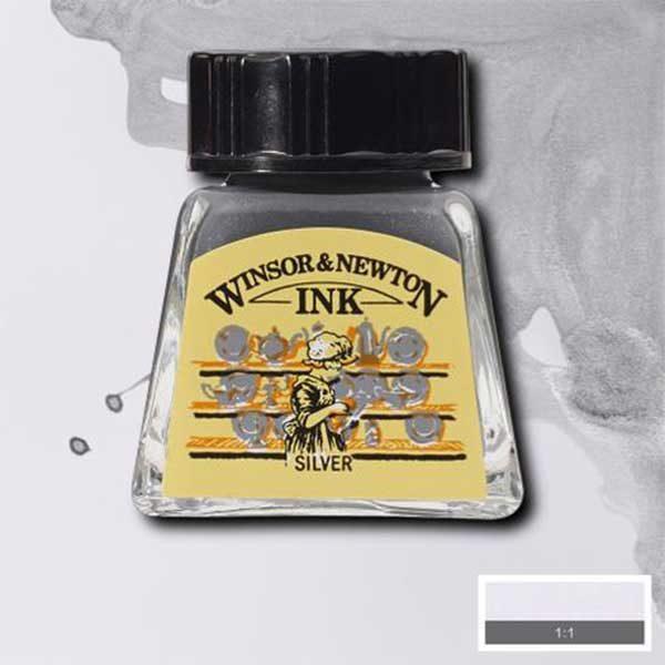 Ink-14ml-Silver-Winsor-&-Newton