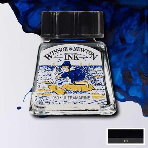 Ink-14ml-Ultramarine-Winsor-&-Newton