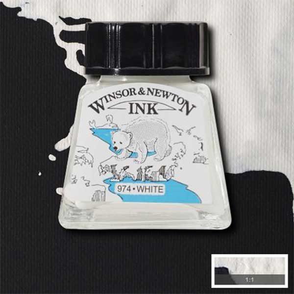 Ink-14ml-White-Winsor-&-Newton