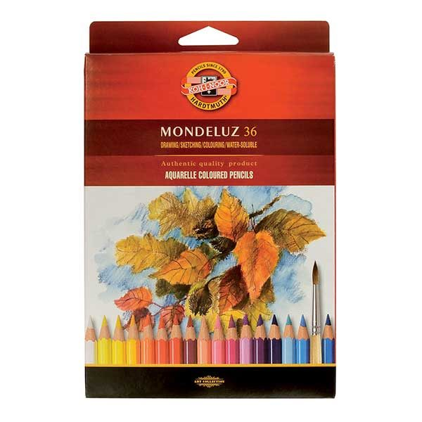 Mondeluz-Aquarelle-Coloured-Pencil-set-of-36-Koh-I-Noor