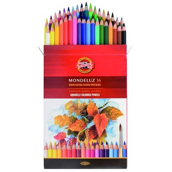 Mondeluz-Aquarelle-Coloured-Pencil-set-of-36-Koh-I-Noor-Top