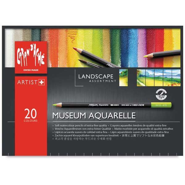 Museum-Aquarelle-Colored-Pencils-Set-of-20-Landcape-Top