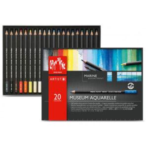 Museum-Aquarelle-Colored-Pencils-Set-of-20-Marine-Open