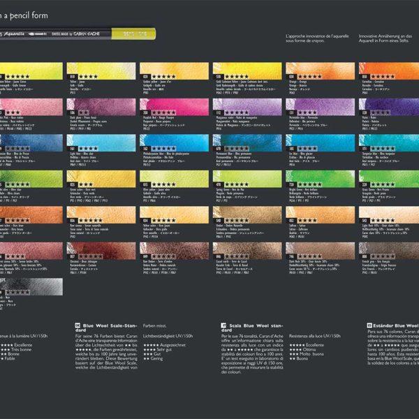 Museum-Aquarelle-Coloured-Pencils-Caran-dAche-Colour-Chart