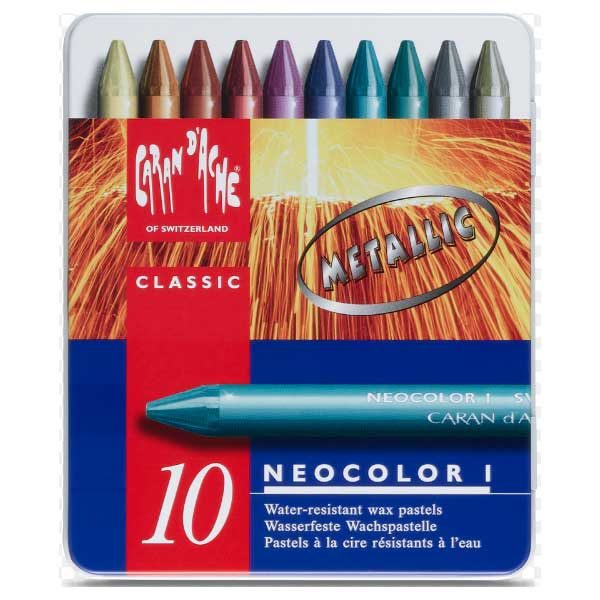 Neocolor-I-Set-of-10-Metallic-Front-CarandAche