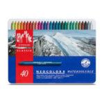 Neocolor-II-Metal-Box-Watersoluble-Wax-Oil-Pastels-40-set-Caran-dAche