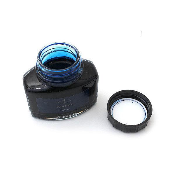 Paker-Quink-Ink-Bottle-Blue-Open