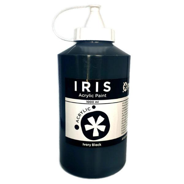 Prime-Art-Iris-Ivory-Black-Acrylic-Paint-1000ml