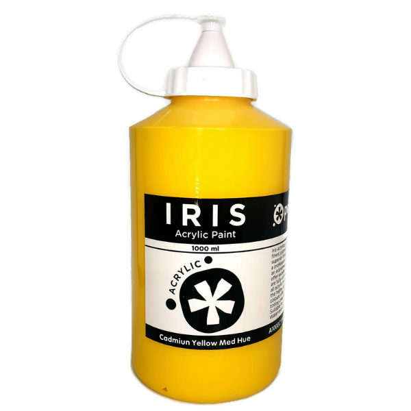 Prime-Art-Iris-Primary-Yellow-Acrylic-Paint-1000ml