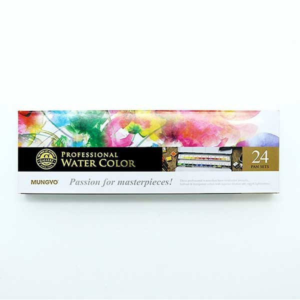 Professional-Water-Color-Pan-Set-of24-Mungyo