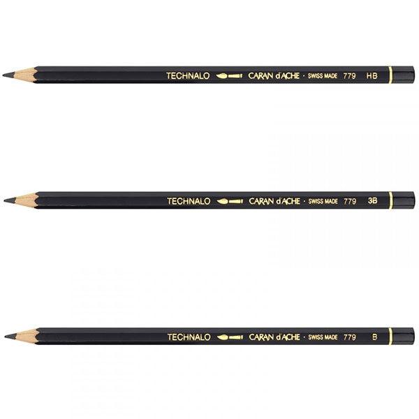 Technalo-Water-Soluble-Graphite-Pencils-CaranDache