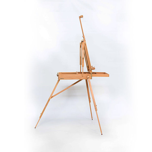 Wooden-French-Box-Style-Easel-Folded-open-side-view