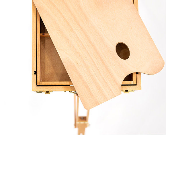 Wooden-French-Box-Style-Easel-Top-Tray-view-with-a-palette