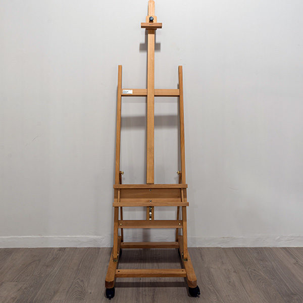 wooden h frame beach wood studio easel the art savings club co za