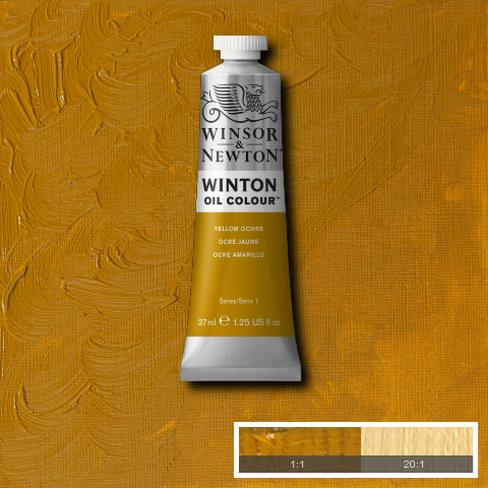 Winsor-&-Newton-37ml-Winton-Oil-Colour-Yellow-Ochre