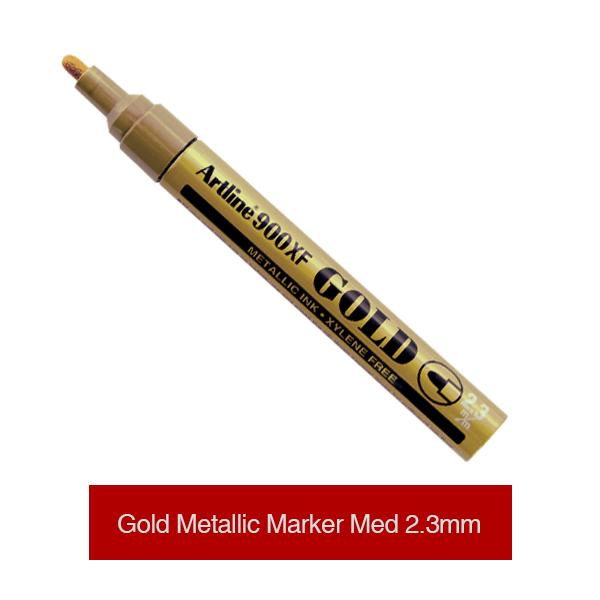 Artline-Metallic-Ink-Markers-Gold-Medium-2,3mm