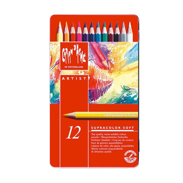 Caran-dAche-Supracolor-Soft-Aquarelle-12-Pencil-Set