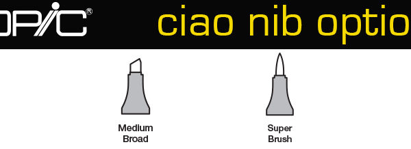 Copic-ciao-nib-options