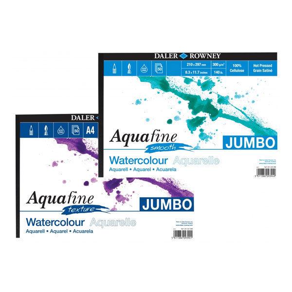 Daler-Rowney-Aquafine-Jumbo-Watercolour-Smooth-&-Texture-Pads