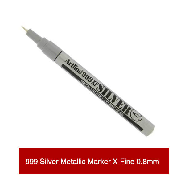 999XF-Silver-Metallic-Marker-X-Fine-Open