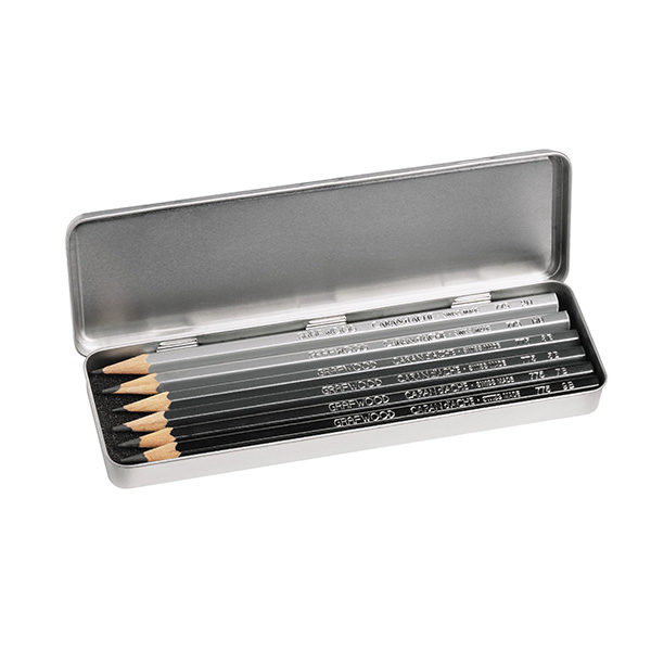 Graphite-Line-Grafwood-Set-of-6-CarandAche Tin