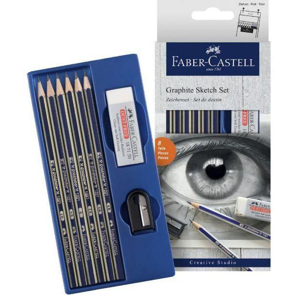 Graphite-Sketching-Set-Faber-Castell-Open