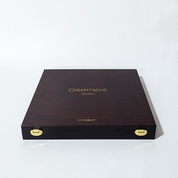 caran-dache-pablo-120pc-wooden-box-set-closed