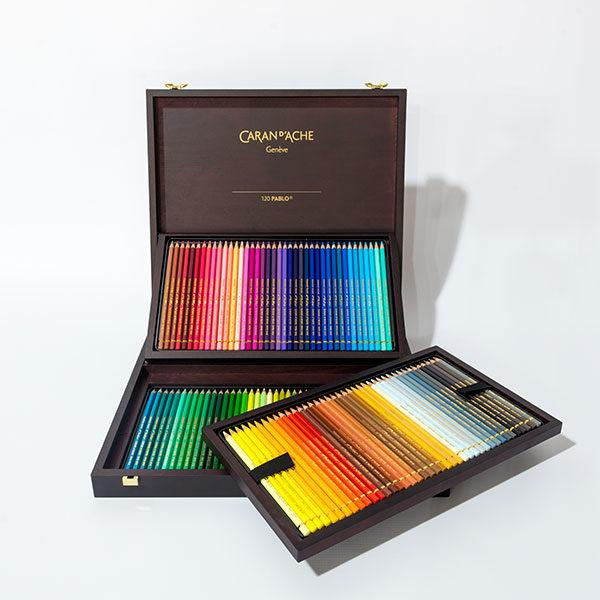 caran-dache-pablo-120pc-wooden-box-set-open-3