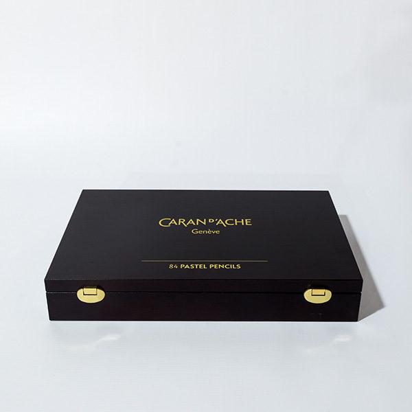 caran-dache-pastel-pencils-84pc-wooden-box-set-closed